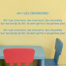 Stickers comptine Ah les crocrocro