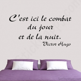 Stickers citation Victor Hugo