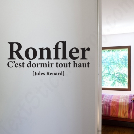 stickers d co mur peint citation c l bre jules renard. Black Bedroom Furniture Sets. Home Design Ideas