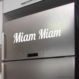 Stickers frigo miam miam