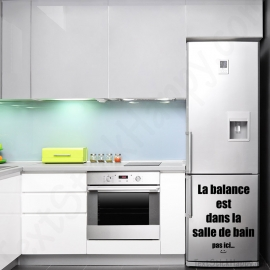 Stickers frigo balance