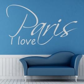 Stickers I love Paris