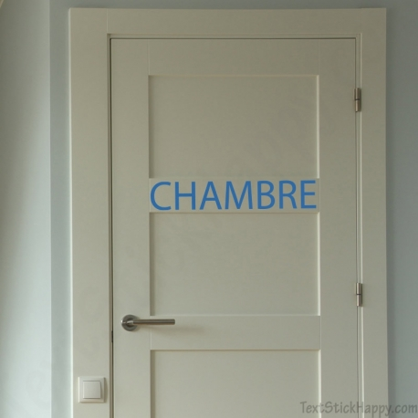 Stickers porte de chambre for Decoration porte de chambre