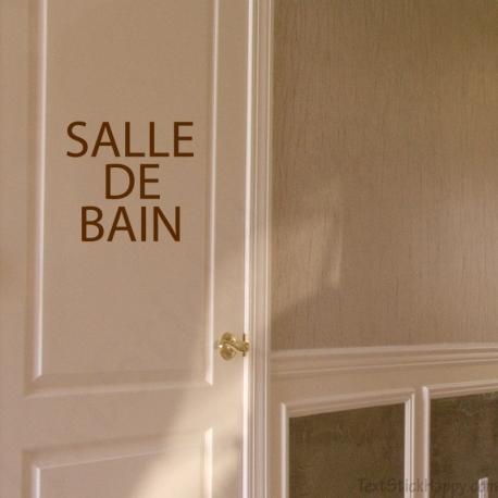 Stickers porte salle de bain for Stickers salle de bain enfant