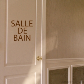 Stickers porte de salle de bain