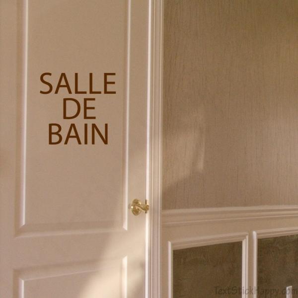 Stickers porte salle de bain - Restauration salle de bain ...