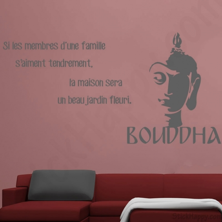 d coration bouddha bouddhisme stickers citations pour d cor mur. Black Bedroom Furniture Sets. Home Design Ideas