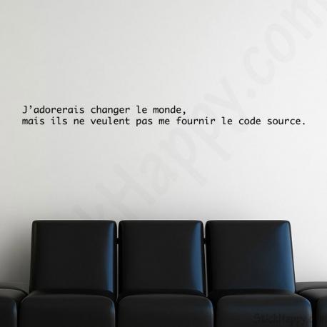 Stickers code source du monde