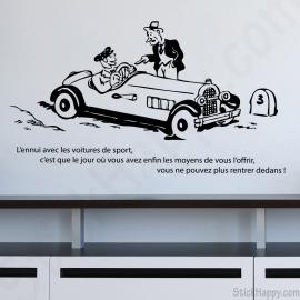 Stickers citation voiture de sport