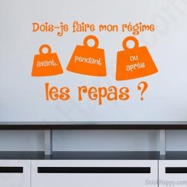 Stickers phrase pour cuisine