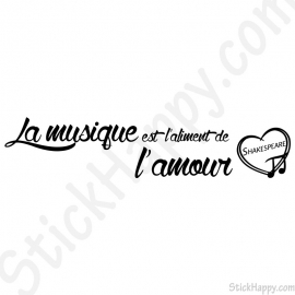 Stickers musique amour