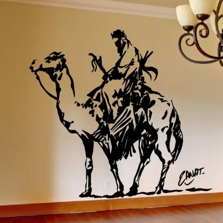 D co murale touareg sur dromadaire for Stickers pour salon