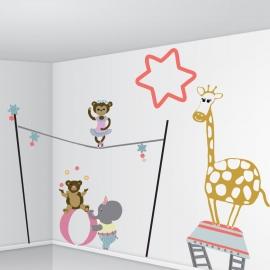 Stickers Kit enfant - Le Cirque - Angélique Dauvergne