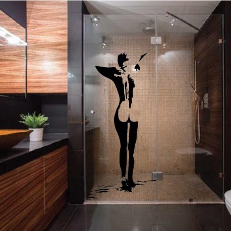 stickers d coup le nu de femme. Black Bedroom Furniture Sets. Home Design Ideas